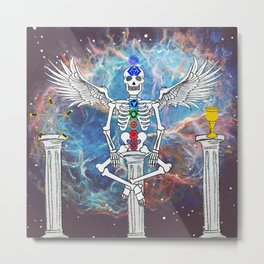 Skeleton of Peace Metal Print