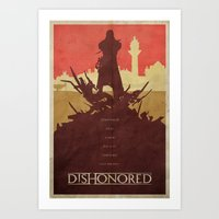 dishonored Art Prints featuring To the Rats - Dishonored Poster by Edward J. Moran II