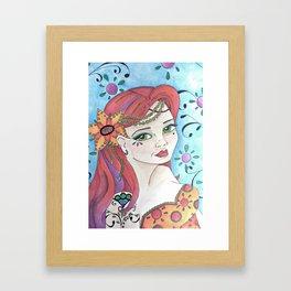 Pinup Mermaid Framed Art Print