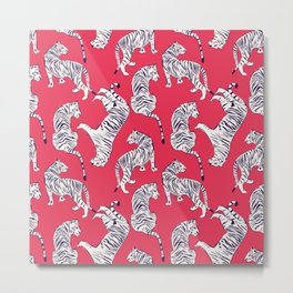 Tiger Pattern 004 Metal Print
