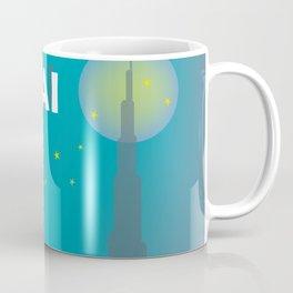 Dubai, United Arab Emirates - Skyline Illustration by Loose Petals Coffee Mug