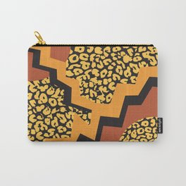 Leopard 80's pattern Carry-All Pouch