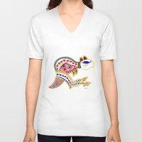 kangaroo V-neck T-shirts featuring Kangaroo by Armyhu