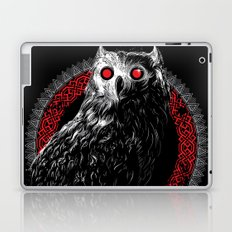 Midnight Owl - Red Laptop & iPad Skin