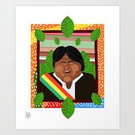 Evo Morales Art Print