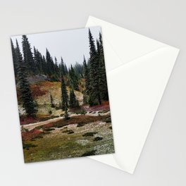 Light Snow on Mountain Meadow Stationery Cards