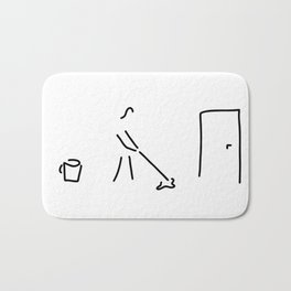 cleaning lady building cleaner Bath Mat