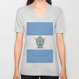 Flag of Pampa Unisex V-Neck