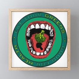 Eat Your Greens! Framed Mini Art Print