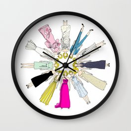 Outfits of Marilyn Fashion (White) Wall Clock