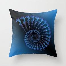 Tribal Dolphin Spiral Shell Throw Pillow