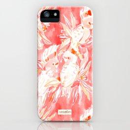 COCKATUDE Peach Cockatoos iPhone Case