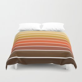 70s Stripes - 70s, retro, retro stripes, ombre, rust, orange, brown,  yellow Duvet Cover