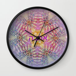 All Roads Lead  To Love Wall Clock
