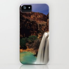 Havusu Falls at Night iPhone Case