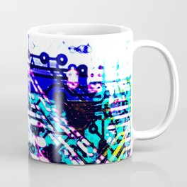 circuit board blue Coffee Mug