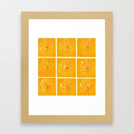 Taking Flight - Yellow Orange & Red Palette Framed Art Print
