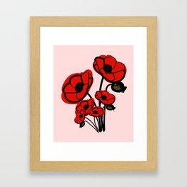 August birth flower Poppy Framed Art Print