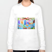 baltimore Long Sleeve T-shirts featuring Baltimore, Maryland by Karen Riddle
