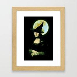 Mona Lisa Witchy Woman Framed Art Print
