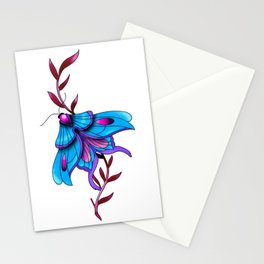 Neotraditional Butterfly Tattoo Style Stationery Cards