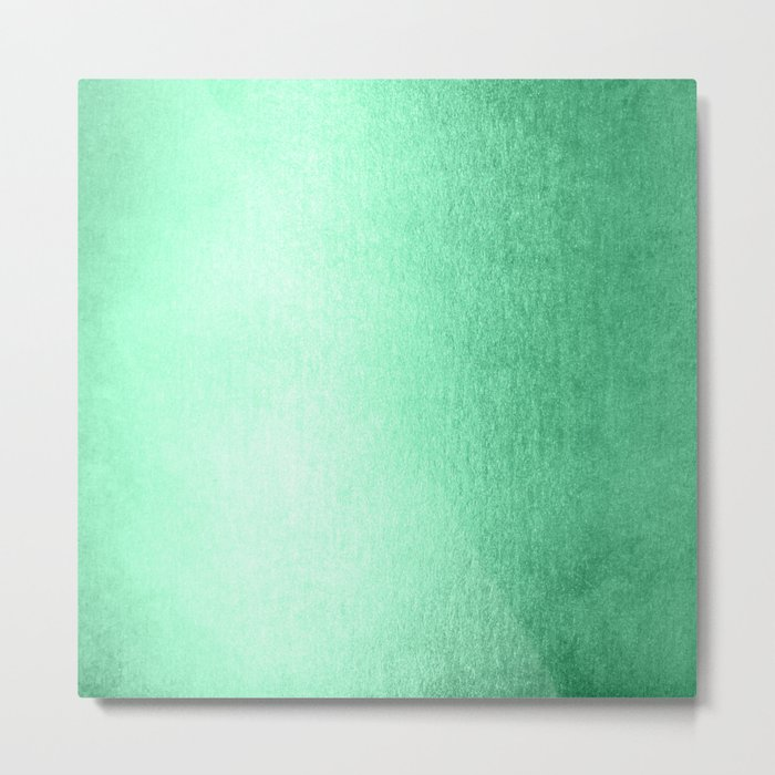 Mint Meringue Shimmer Metal Print