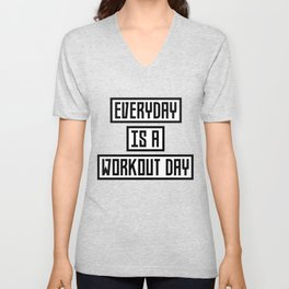Workout Day fitness T-Shirt for all Ages Dx41w Unisex V-Neck
