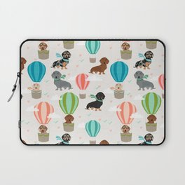 Dachshund hot air balloon dog cute design fabric doxie pillow decor phone case Laptop Sleeve