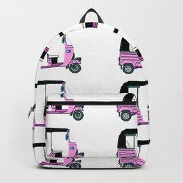 Pink tuktuk, fun design Backpack