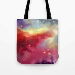 Tote Bag 0 Red Jaws of Space by C. B. Miller Art
