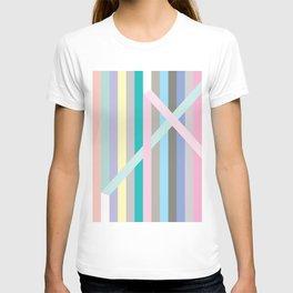 Pastel stripes x T-shirt