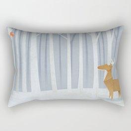 Origami deer in the Woods Rectangular Pillow