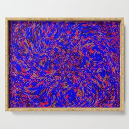 whirlwind blue and red Serving Tray