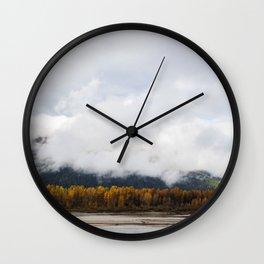Golden Forest Wall Clock