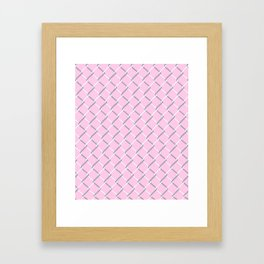Chain Link on Blush Framed Art Print