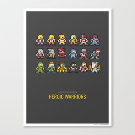 Mega MotU: Heroic Warriors Canvas Print