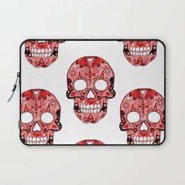 Red Skulls Pattern Laptop Sleeve