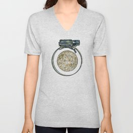 This is not a clamp. Just my imagination. Unisex V-Neck