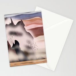Between the sea and the mountains Stationery Cards