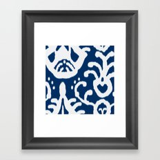 Navy Ikat Framed Art Print