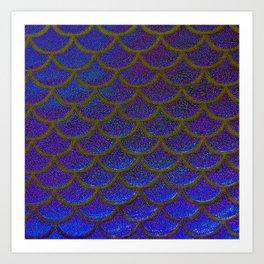Dandelion Denim Scales Art Print