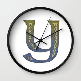 Celtic Knotwork Alphabet - Letter Y Wall Clock