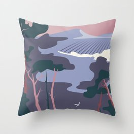 Paysage provence camargue Throw Pillow