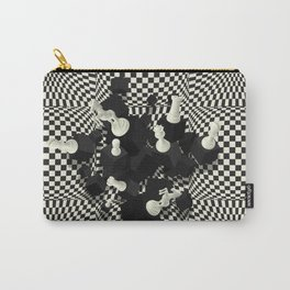 Chessboard and 3D Chess Pieces composition Carry-All Pouch