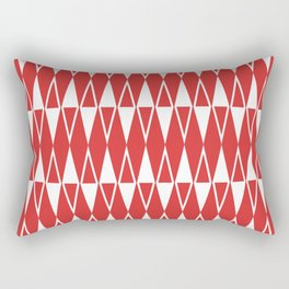 Mid Century Modern Diamond Pattern Red 234 Rectangular Pillow