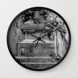 Angel and old grave Wall Clock
