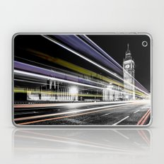 Big Ben light trails Laptop & iPad Skin