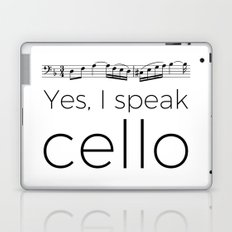 I speak cello Laptop & iPad Skin