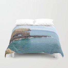 Akaroa Scenic Head, New Zealand Duvet Cover
