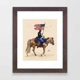 Buffalo Soldier Framed Art Print
